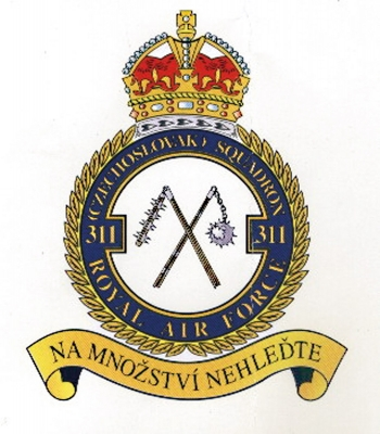 Badge of the 311th Czechoslovak Bomber Squadron of the RAF