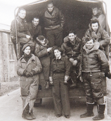 Jiří with his crew in R. A. F.
