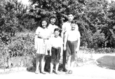 Judith with her sister and brother