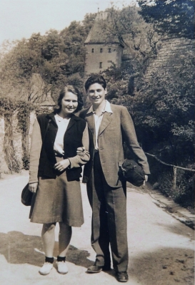 Věra and Vilda at Karlštejn Castle (1946)