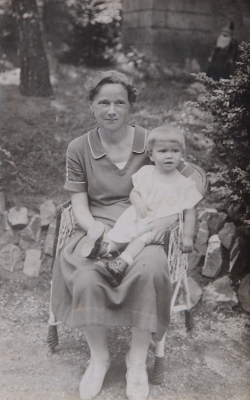 Little Věra with her grandmother