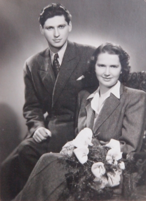 Wedding photo of Věra and Vilda (1949)