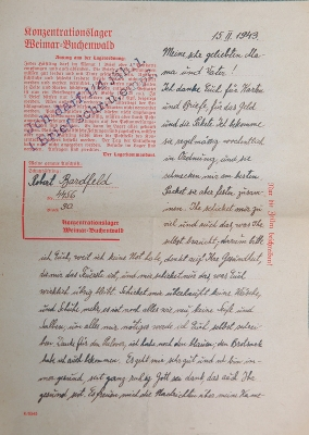Letter from Buchewald, February 15, 1943