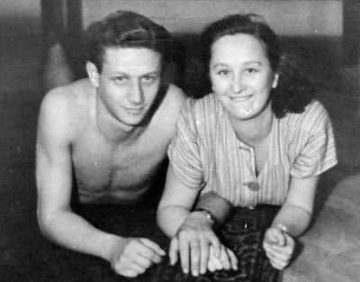 Siblings Lustig after returning from concentration camps (1945)